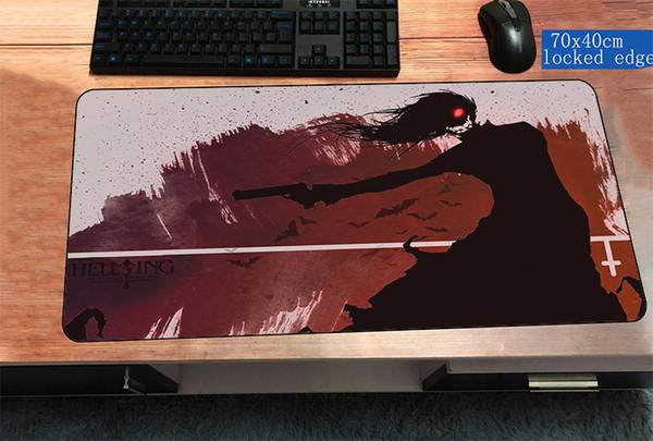 hellsing коврик для мыши 700x400x3 мм горячие продажи коврик для компьютерной мыши геймер геймпад геймер locrkand игровой коврик для мыши настольный коврик для офиса