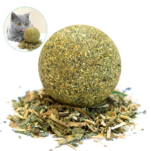 1PC Cat Natural Catnip Edible Ball Mint Toy for Cat Kitten Catnip Treating Ball Pets Funny Toy Cat Dog Balls Toys