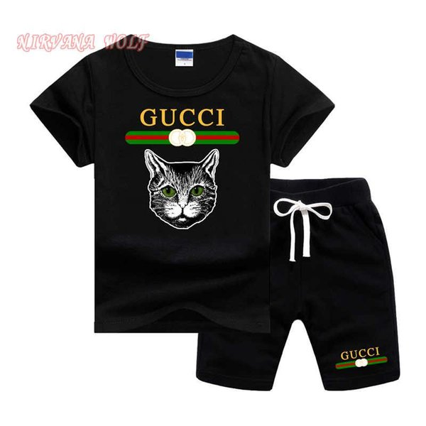 Miúdos de verão Crianças Ventilação Trajes Set Boy Childrens Moda Padrão Terno Meninos Roupas de Bebê Crianças Conjuntos de Roupas Menino Outfits Marca
