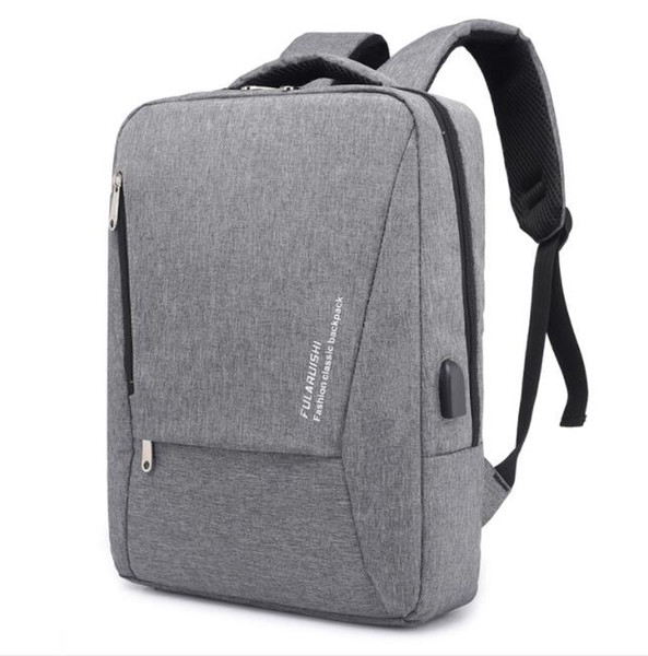 High quality Men Laptop Backpack USB External Charge Computer Shoulders Anti-theft Backpack15 -17inch Waterproof Travel bag