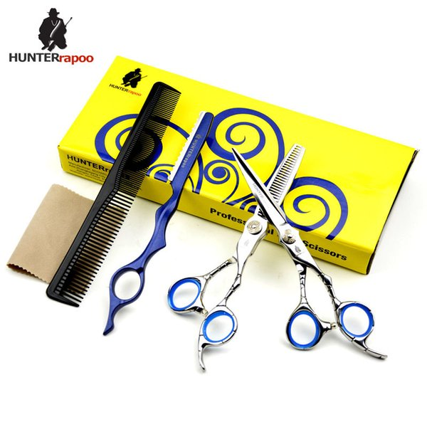 6 inch professional HT9124 6CR Barber hair cutting and thinning scissors set for barber hairdresser using