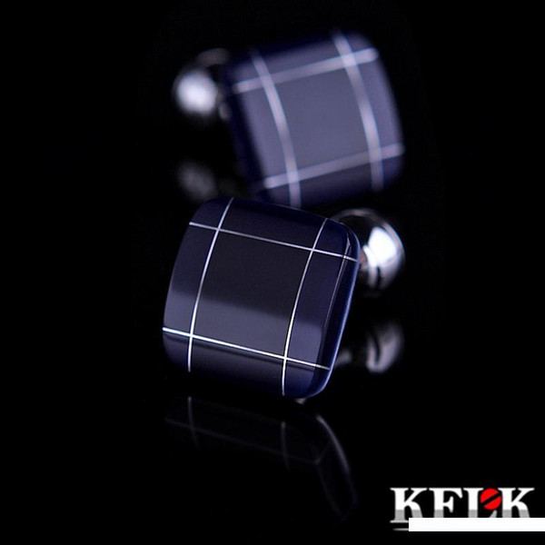 Klfk 2018 New Products Coming Hot Brand Cufflinks Man French Shirt Cuffs Buttoning Wedding Gift Cufflinks Blue Cufflink Free Shipping