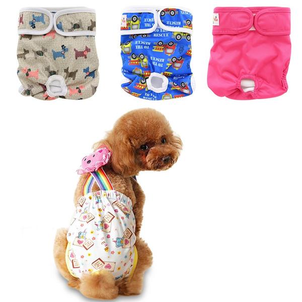 Ohbabyka Dog Physiological Pants Diaper Washable Female Dog Shorts Panties Menstruation Sanitary Underwear Briefs For Dog