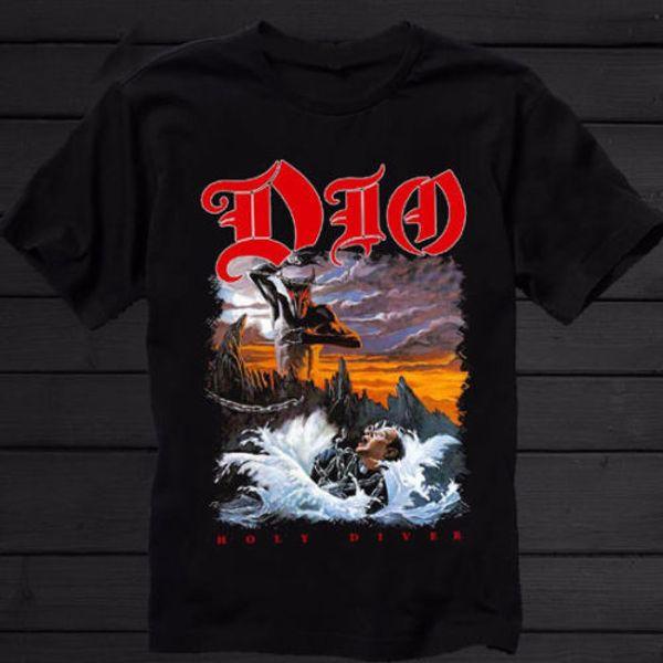 DIO-Holy Diver-American Heavy Metal Band Tee Tshirt Men Black T-Shirt S to 3XL Men Women Unisex Fashion tshirt Free Shipping