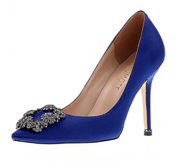 NOVO italy Mercerized denim genuínos sapatos de seda do casamento de prata saltos altos Rhinestone women039; s casamento sapatos bmen Shoes Sapato feminino