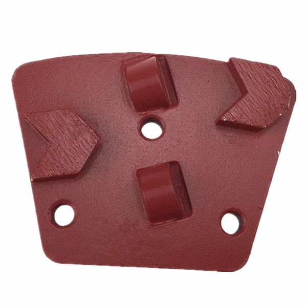 best selling KD-APCD2 Metal Bond Diamond Grinding Shoes PCD Grinding Pads with Two Half PCD and Two Arrow Segments Epoxy Concrete Coating Removing 9PCS