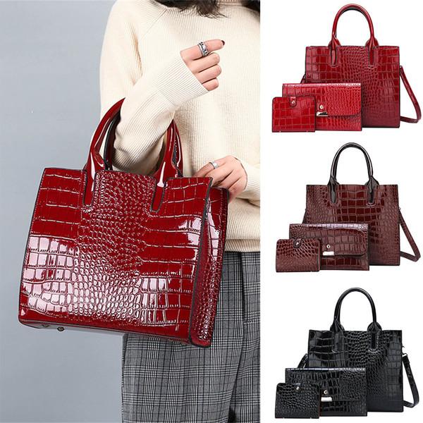 bags for women 2019 handbag composite bag shoulder crossbody handbag phone bag forgirls 3pcs bolsa feminina dropshipping ##4