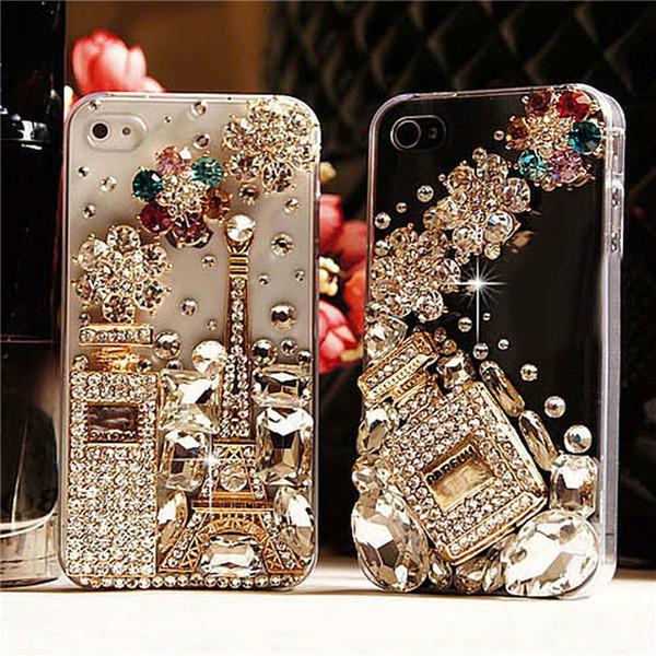 Moda de lujo agradable del diamante del teléfono móvil cubierta del estuche rígido para iphone xs xr max venta caliente salida de fábrica