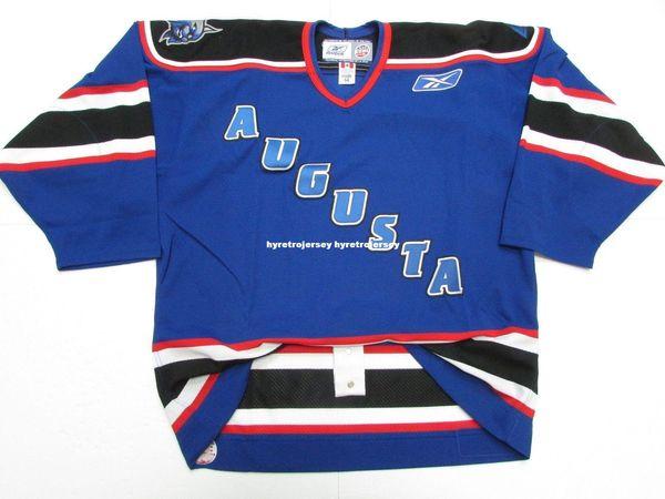 Дешевые пользовательские AUGUSTA LYNX ECHL PRO 6100 хоккей Джерси стежка добавить любое количество любое имя мужской хоккей Джерси XS-6XL
