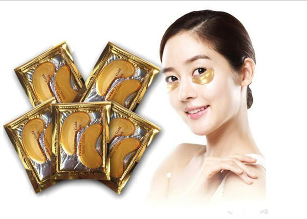 top popular 2018 New Collagen Crystal Eye Masks Anti-puffiness moisturizing Eye masks Anti-aging masks collagen gold powder eye mask 2021