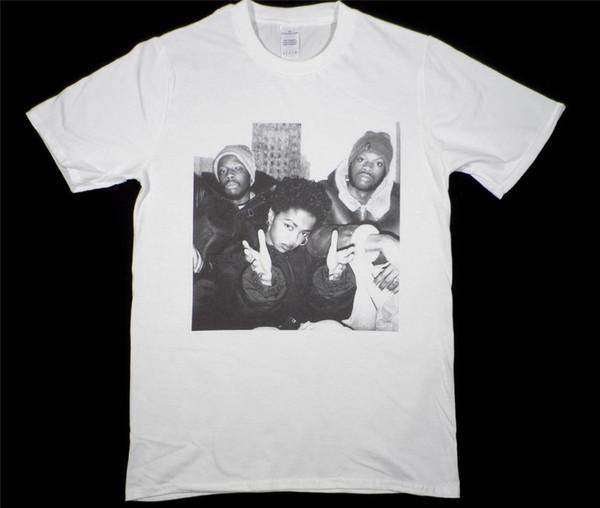Das Fugees Lauryn Hill Wyclef weißes T-Shirt Größe S-XXXL Hip-Hop-Rap biggie Tupac Lustiges freies Verschiffen Unisex lässig