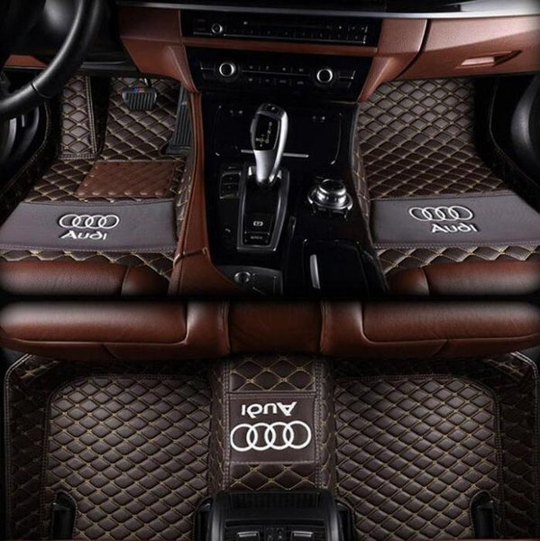 Suitable for Audi A3 / 2013-2017 stitching car mat anti-slip PU interior waterproof leather floor mat environmentally friendly non-toxic mat