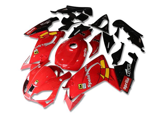 Новый ABS обтекатели Комплект кузова для Aprilia RS4 RSV125 RS125 06-11 RS125R RS125 RSV 125 RS 2006 2007 125 2008 2009 2010 2011 красный