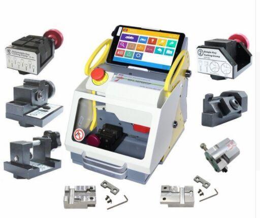 best selling 2019 Full Clamp SEC-E9 key cutting machine Modern Car Key Making Machine Professional Key Copy Machine with CE Approved Update Online