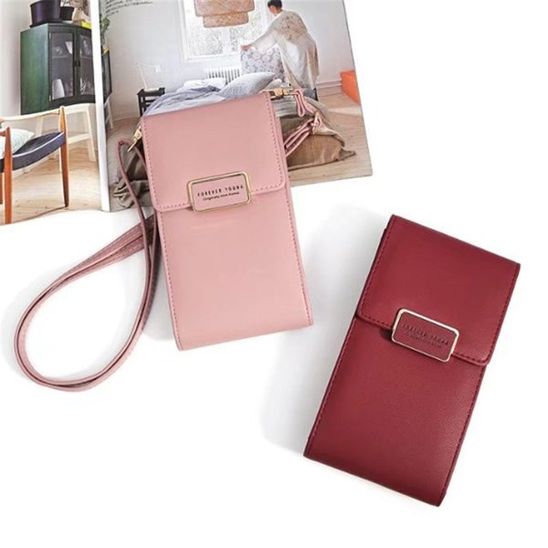 Women Girl Shoulder Messenger Crossbody Bag PU Leather Mini Fashion Multi-functional Bag Mobile Phone Purse Chain Pouch Case