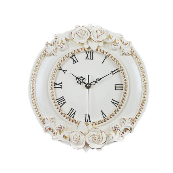 Creative European Decorative Wall Clock Quiet Room Hotel Relais Dell Orologio Restaurant Watch Saat Flower Clock Living Room Decor