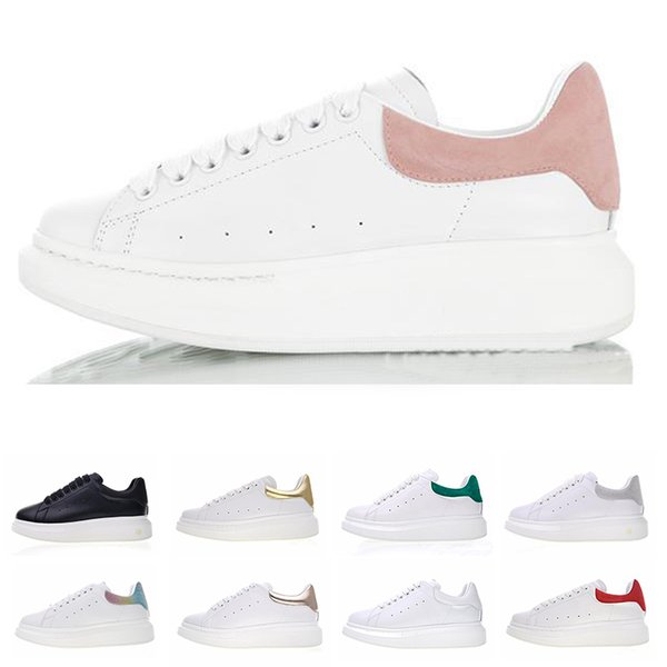 huge selection of 7c968 8f293 2019 Newest Release Luxury Women Men MQ Stan Smith Designer Sneakers White  Leather Platform Shoes Flat Casual Skate Party Wedding Shoes Basketball ...