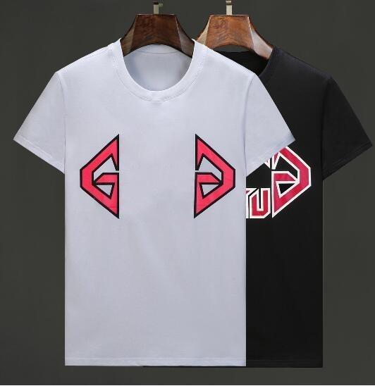 T-shirt da uomo nuova estate calda moda estate italia t-shirt manica corta stampata grande lettera tee Tee casual girocollo in cotone Top tshirt