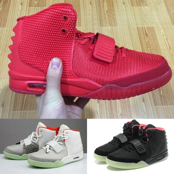Kanye West Kırmızı Ekim 2 SP Toz Torbası Ile Erkekler Basketbol Ayakkabıları erkek Spor Sneakers Glow Karanlık Atletik Açık ayakkabı