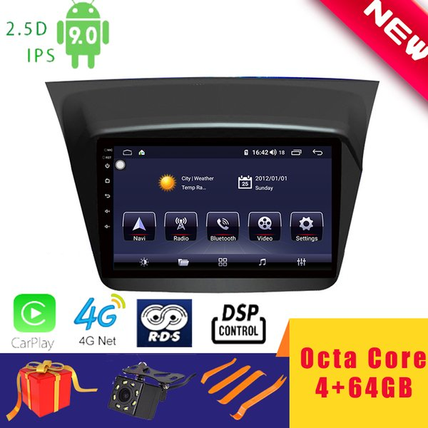 "9"" android 9.0 car multimedia player stereo for mitsubishi pajero montero sport 2013~2017 head unit octa core dsp 2.5d carplay car dvd"