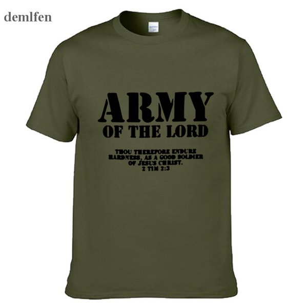 Army Of The Lord Men And Women Couples Matching T-Shirt Novel Style Custom Printing T Shirt Plus Size