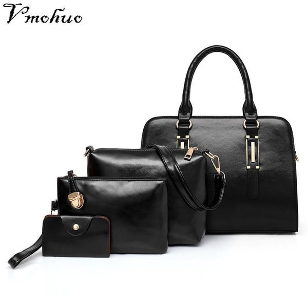VMOHUO Brand Women&s Fashion Handbag Women Shoulder Bag PU Leather Composite Bags Bolsas Femininas Femme Sac A Main Brown Black
