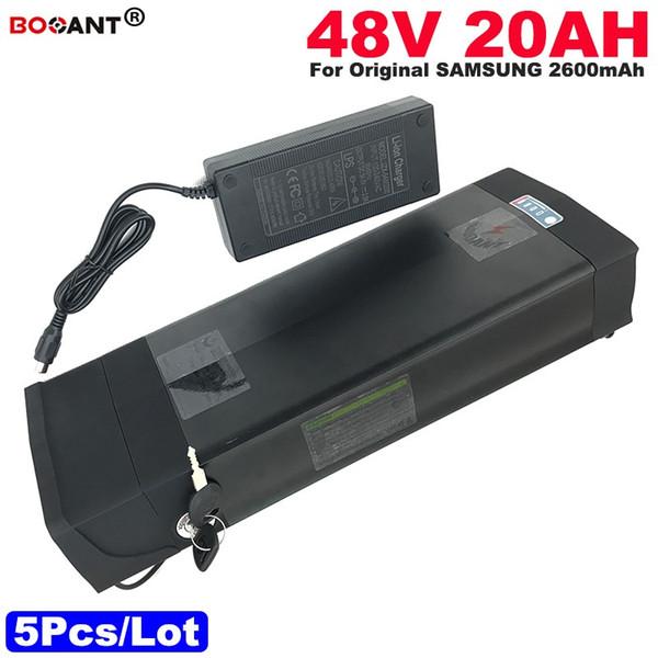 Venta al por mayor 5pcs / Lot 48V 20AH E-Bike Battery Pack para la batería de litio eléctrica original de la bicicleta de Samsung 30B 48V para el motor 1000W