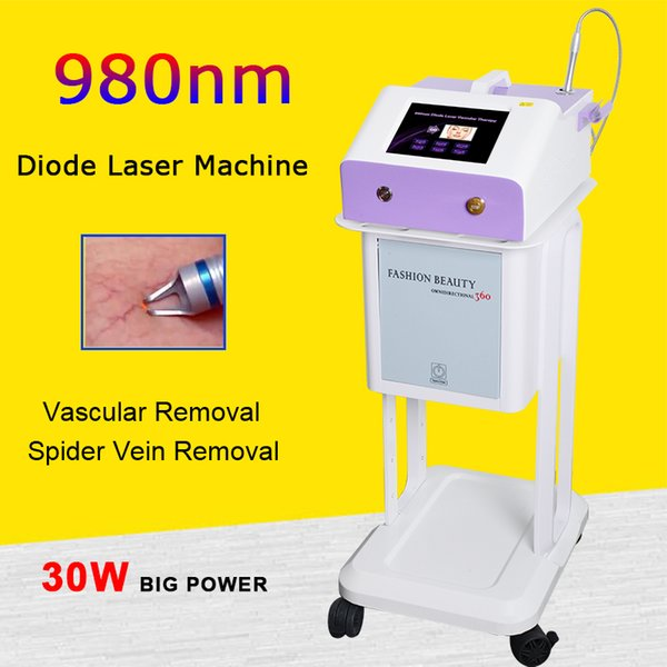 980nm 5 size rings diode laser vascular removal spider vein removal machine improve Facial red vascular 980nm diode laser machine