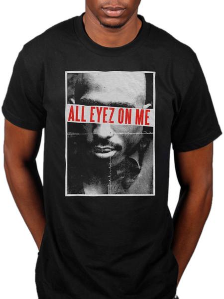 Camiseta oficial Tupac All Eyez Hip Hop Rap Me contra el mundo Makaveli Mejores Hombres Mujeres Unisex camiseta de moda Envío gratis