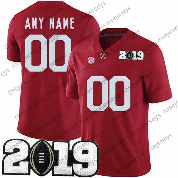 أحمر مع 2019 رقم أبيض التصحيح