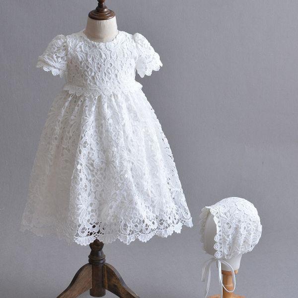 Compre Recién Nacido Princesa Blanca Niñas Vestidos De Bautismo Vestido De Pascua Para Bebés 1 2 Años De Cumpleaños Vestidos De Bautizo Para