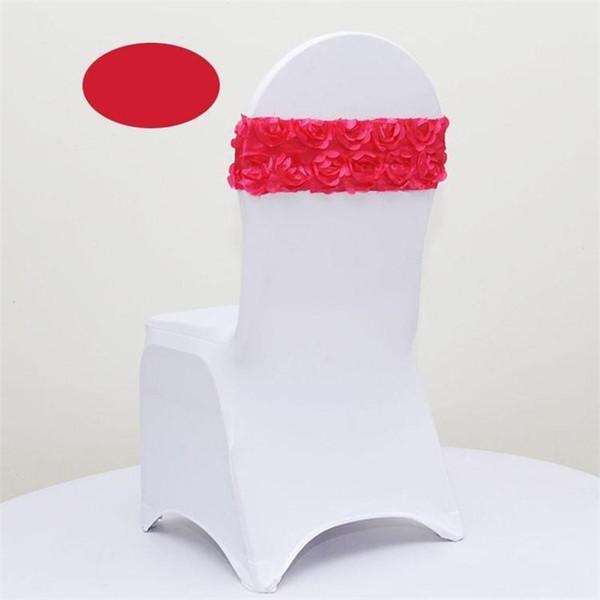 Última cubierta de la silla de la boda elástico 3D del pétalo de la flor del partido del marco de los marcos del banquete decoración decoración multicolor