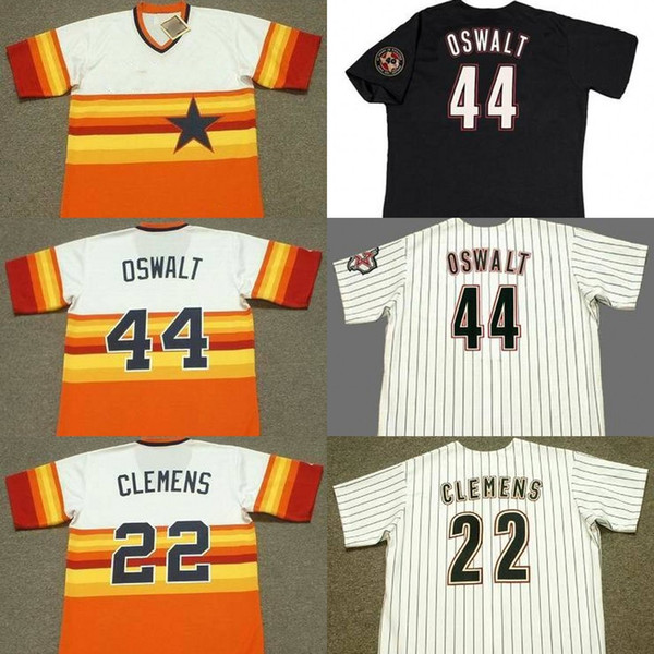 2019 Houston 1 Carlos Correa 4 George Springer 15 Carlos Beltran 22 Roger Clemens 44 Roy Oswalt Baseball Jersey Stitched From Jerseys Online 24 37