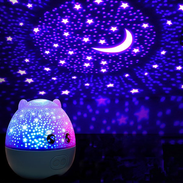 Speaker Romantic sky Pig Projection lamp LED Rotating Bluetooth Creative with music sleep light glow in the dark light up toys