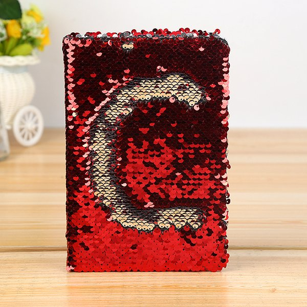Daily Memo English Letter Gift Smooth Writing School Office Notebook Stationery Colorful Exquisite Eye-protect Sequins Fashion