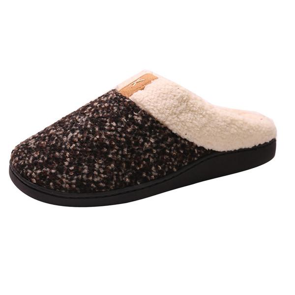 dcb1842832e Hot Sale Men Women Winter Warm Indoor Slipper Cozy Memory Foam Slippers  House Shoes Indoor Outdoor