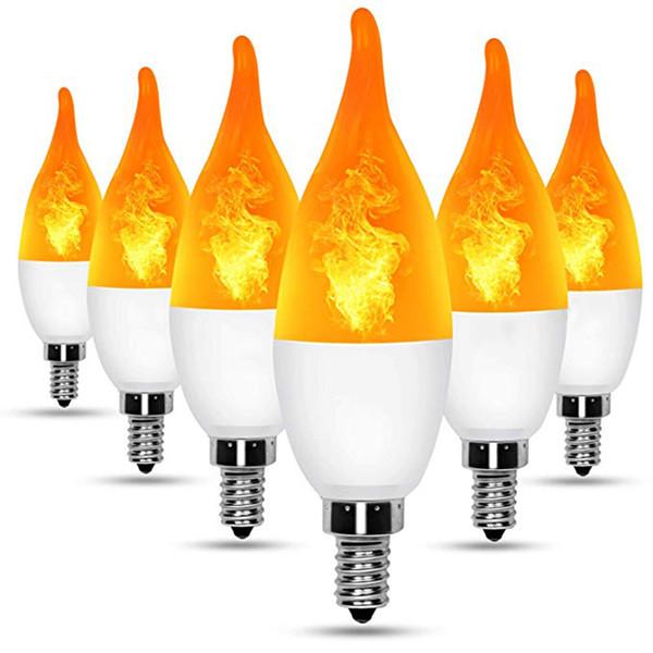 E12 Flame Bulb LED Candelabra Light Bulbs,1.2 Watt Warm White LED Chandelier Bulbs,1800k Non-Dimmable Candle Light Bulbs, Flame Tip