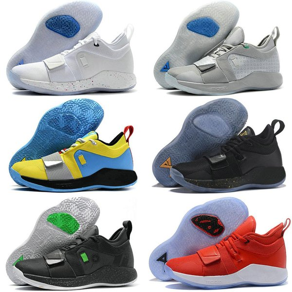 PlayStation PG 2.5 X University Red Outdoor Shoes MOON EXPLORATION PG 2 Racer blue Amarillo White Black Grey Mens Paul George Shoes 40-46