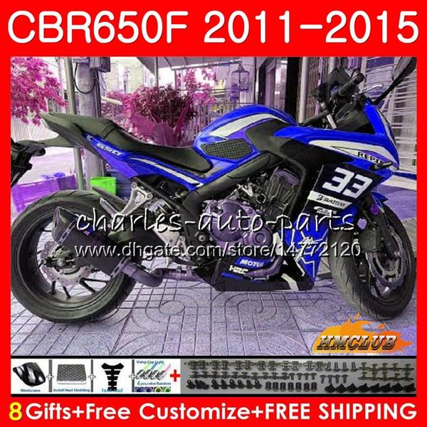 Körper für HONDA CBR650F blau silbrig CBR650F 2011 2012 2013 2014 2015 42HC.78 CBR650 F CBR650 CBR 650 F CBR 650F 11 12 13 14 15 16 Fairings