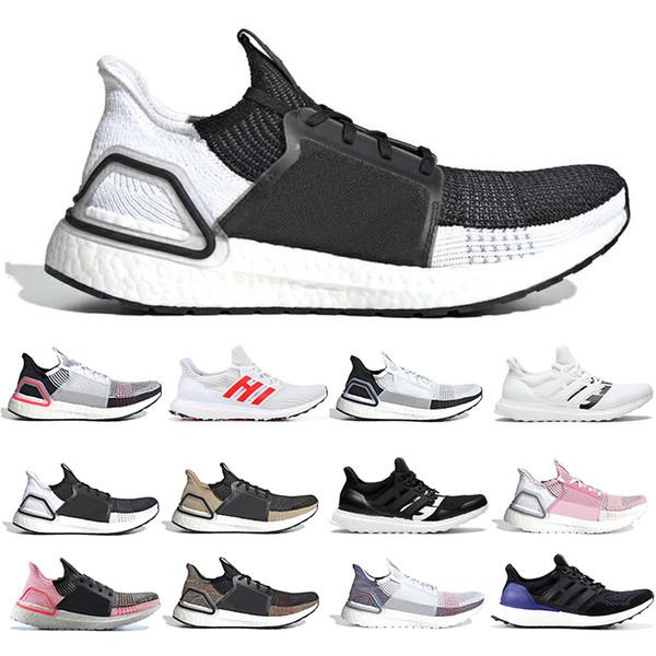 Acheter Adidas Boost Ultra Boost 19 Hommes Femmes Chaussures De Running Cloud Blanc Noir Oreo Ultraboost 5.0 Formateurs Pour Hommes Baskets De