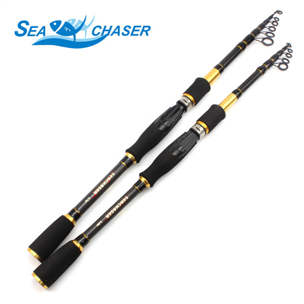 Carbon M power lure 7g -28g 1.8M - 2.7M Portable Fishing Rod Spinning Fish Hand Fishing Tackle Sea Rod