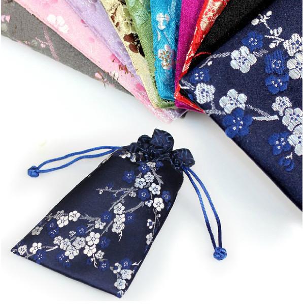 15x9cm soie téléphone portable de protection couvre cordon jolie téléphone cellulaire cas pochette sac cadeau traditionnel chinois