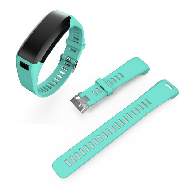 8 Colors 220mm/8.66\' Watchband Silicone Smart Watchband Wristband with Screws and Repair Tools for Vivosmart HR Watch 15