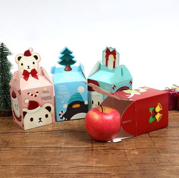Joyeux Noel Apple.Acheter 2019 Joyeux Noel Apple Box Gateau De Fete Dessert Plie Boite De Papier Fete De Noel Decoration Festival Emballage De 95 48 Du Yibo528