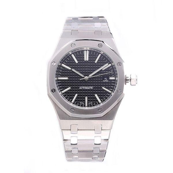 HOT mens relógios de luxo 42mm cinta de aço inoxidável completa Relógio mecânico de negócios relógio de pulso luminosa safira reloj de lujo 5ATM à prova d 'água