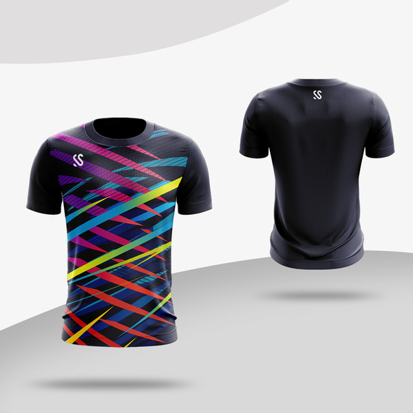 mens Summer Quick-dry Tennis shirt Outdoor sports Running Fitness clothes male Short-sleeve t shirts jogging tee