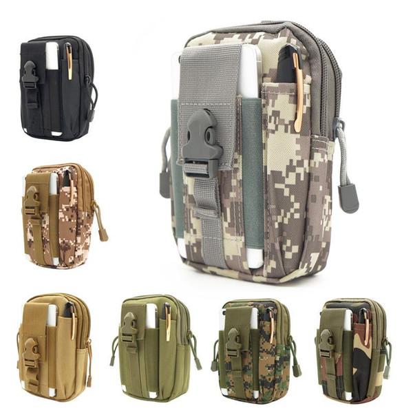 Riñonera Molle Tactical Impermeable Bolsas de viaje Cinturón Bolsa para teléfono Ejército SWAT Camuflaje Accesorios para trabajadores Paquetes de cintura