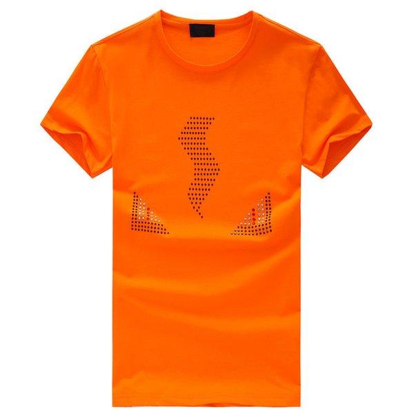 Robin T-Shirt Männer Hop T-Shirt Sommer Business Herren T-Shirts Mode Applique Crystal Kurzarm T-Shirt