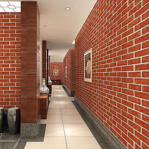 빈티지 소박한 흰색 붉은 벽돌 3D 벽지 롤 침실 식사 거실 벽 취재 현대 WallPaper 홈 장식
