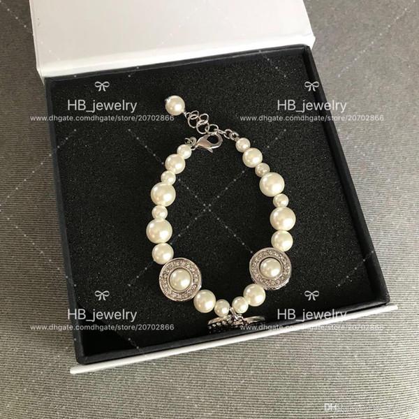 mode populaire version haute bracelet de perles de taille de diamant pour dame Design Fête de mariage des femmes de luxe bijoux pour la mariée avec la boîte.